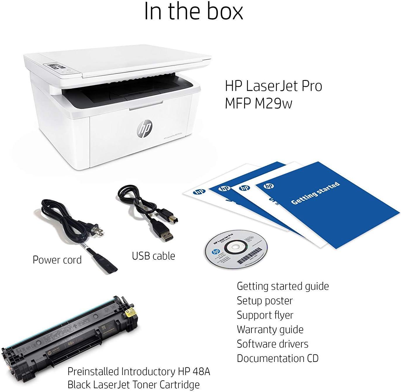 HP LaserJet Pro M29w Wireless All-in-One Laser Printer, Works with Alexa (Y5S53A)
