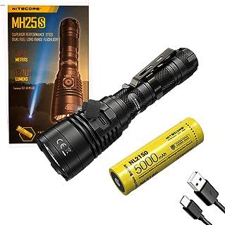 NITECORE MH25S Superior Performance 21700 Dual Fuel Long Range Flashlight, with Eco-Sensa Type-C USB Charging Cable