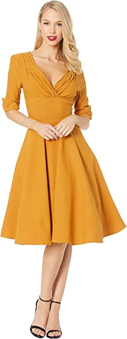 1950s Delores Swing Dress with Sleeves