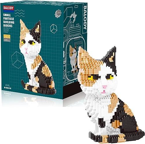 discount Calico Cat high quality Mini Blocks Set - 1390 Bricks 3D Puzzle outlet sale BLOCK CENTER Animal Mini Blocks outlet sale