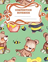Composition Notebook: A 8.5x11 Inch Matte Softcover Paperback Notebook Journal With 120 Blank Lined Pages -Wide Ruled- Honey Bears Bumble Bees