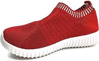 Womens Athletic Slip On Elastic Breathable Mesh Sneakers