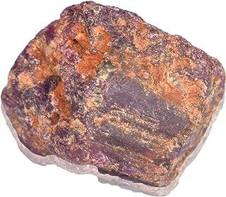 Real Gems Piedra Preciosa de rubí Natural de 42.50 Quilates en Bruto, Piedra de rubí en Bruto en Bruto de Estrella Piedra ...