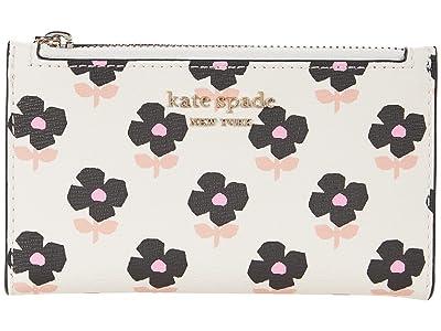 Kate Spade New York Spencer Block Floral Small Slim Bifold Wallet