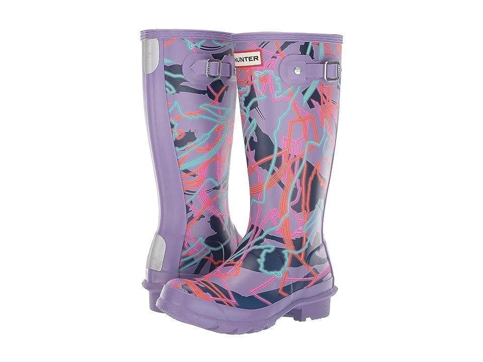 Hunter Kids Disney(r) Mary Poppins Original Wellington Rain Boot (Little Kid/Big Kid) (Parma Violet Bright Camo Print) Girls Shoes