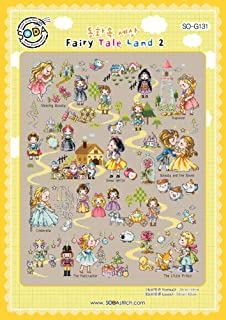 SO-G131 Fairy Tale Land 2, SODA Cross Stitch Pattern leaflet, authentic Korean cross stitch design chart color printed on coated paper