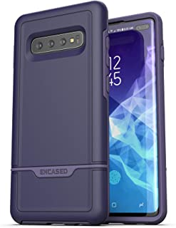 Encased Protective Galaxy S10 Plus Case (2019 Rebel Armor) Military Grade Heavy Duty Full Body Cover (Samsung Galaxy S10+) Indigo