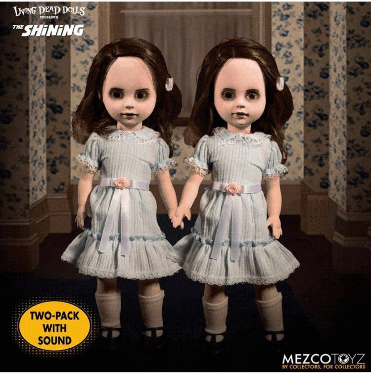 """Mezco Living Dead dolls THE SHINING Talking GRADY TWINS 10/"""" Dolls Stephen King"""