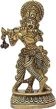 Lord Krishna Brrass Statue/ Religious Statue Lord Krishna Puja Temple Decor/ Krishna Bhagwan Murti Hindu God Kanha Ji Idol...