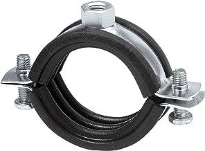 20-112mm Schraubrohrschelle verzinkt mit Gummi Zweischraubenschelle