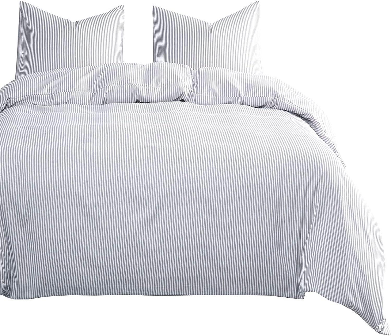 Wake In Las Vegas Mall Cloud - Gray White Finally resale start Striped Vertical Set Comforter Grey