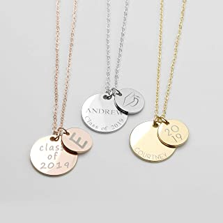 Personalized Graduation Necklace Name Necklace College Graduate Gift High School Women Graduation Grad Class of 2019 Customized - LCN-NC