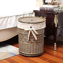 LYQQQQ Rotan Hamper geweven huishoudelijke wasgoed-opbergdoos, met dekseldesign, dagelijks cadeau beschikbaar 40x40x52cm (...