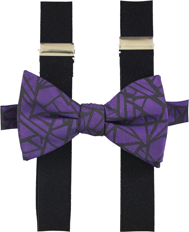 Alfani Mens Geo Print Party Y Shape Suspenders