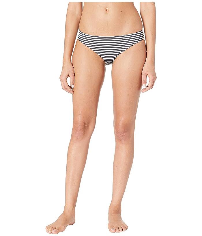 Tory Burch Swimwear Classic Stripe Hipster Bottoms (Navy Classic Stripe) Women