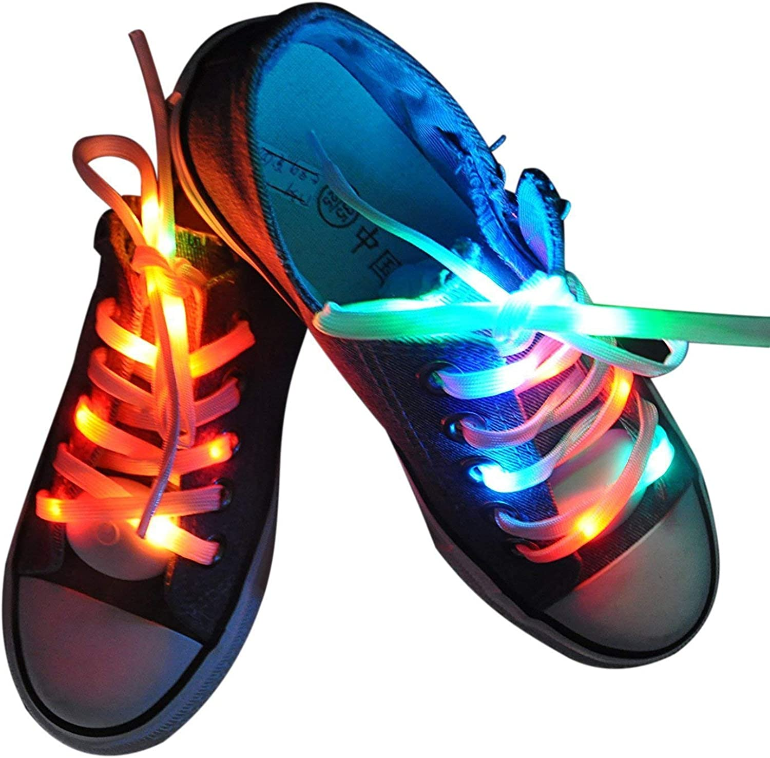 Lystaii LED Light Waterproof Shoelaces San Diego Mall Battery Cheap mail order specialty store Powere Shoestring