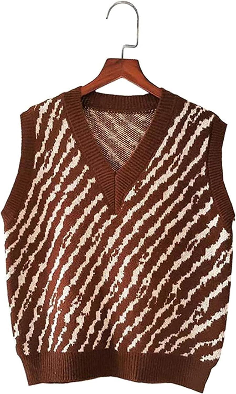 Ethnic Boho Women Indianapolis Mall Tops Sptring Sweater Sleeveless Ranking TOP10 Kore Vest Knit
