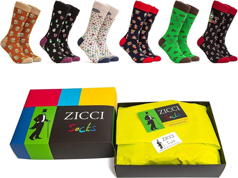 Zicci Socks Set of 6 Gift Box Happy Funky Dots