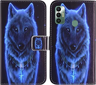 TienJueShi Wolf Fashion Stand TPU Silicone Book Stand Flip PU Leather Protector Phone Case For Tecno Spark 7 6.5 inch Cove...