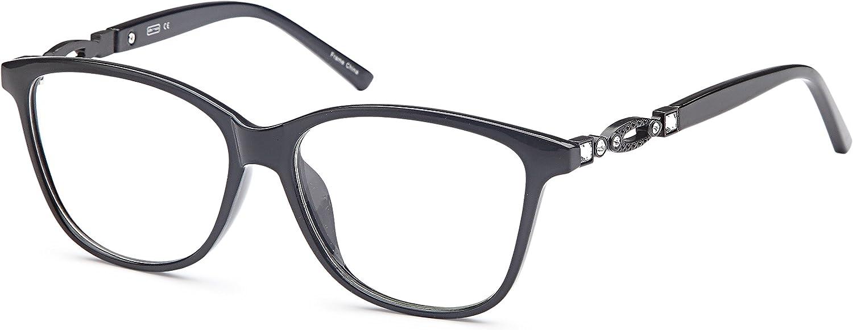 DALIX Womens Prescription Eyeglasses Frames 541514043 RXable in Black, Tortoi