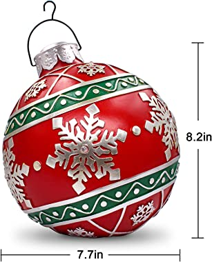 Resin Christmas Ball Ornaments Home Decor Commercial Pendants Battery Operated Led Lights Gaint Xmas Tree Decoration Snowflak
