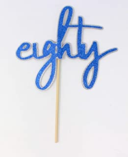 All About Details Eighty Cake Topper, 1pc, 80th birthday, 80th anniversary Multi