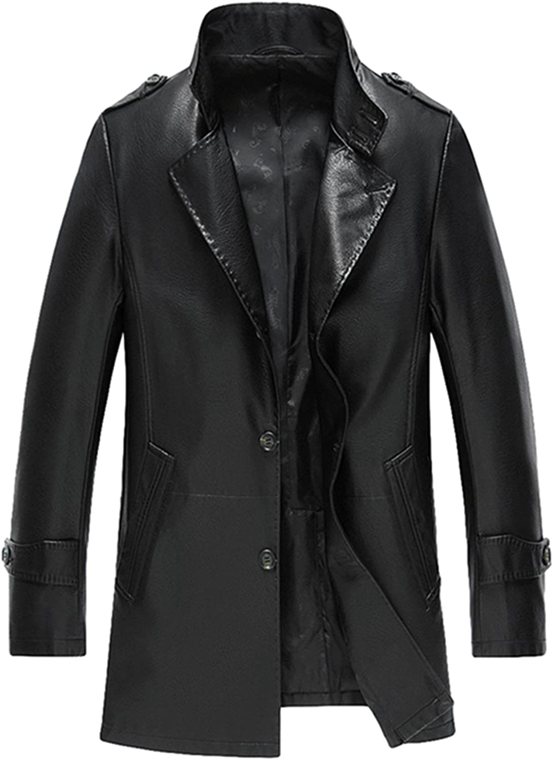 Men's leather Fit business leather suit collar leather jacket
