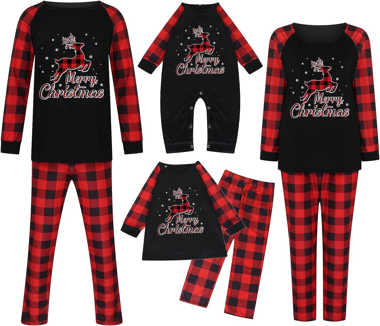 Matching Family Christmas Pajamas Sets Pants Free shipping New Tops Award Printed Cute S