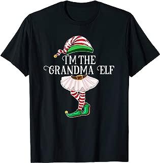 I'm the Grandma Elf Matching Family Pajamas Christmas Gift T-Shirt