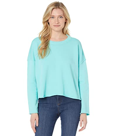 Eileen Fisher Long Sleeve Crew Neck Box Top in Organic Cotton French Terry