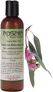 Eucalyptus Balancing Lotion. Great to Balance Combination Skin. Closes Appearance of Open Pores and Ideal to Balance Oily T-Zone. No Harsh Chemicals. Made with Premium Ayurvedic Ingredients.