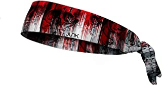 JUNK Brands Blood Echo Flex Tie Headband, Red, One Size