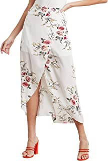 Floral Printed Wrap Around Midi Skirt 80388536 For Women Closet by Styli
