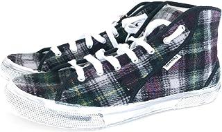 Sneeky Sneakers Wool/Canvas Tartan Sneakers 43