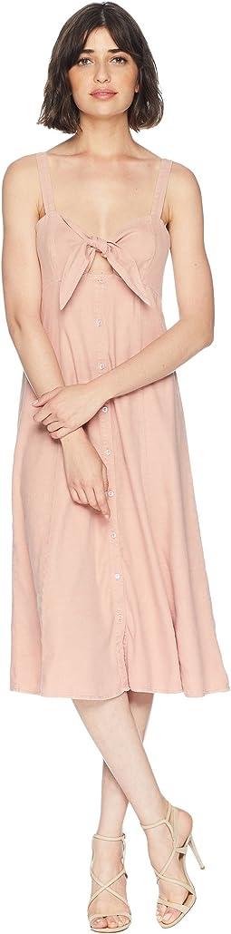 Dahlia Linen Slub Midi Dress