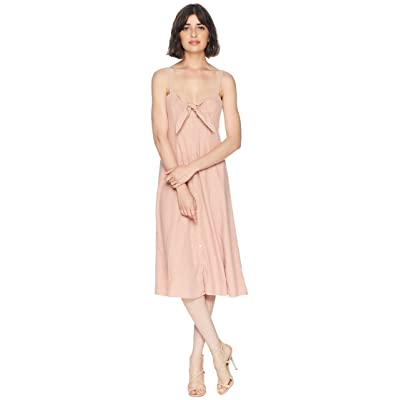 Splendid Dahlia Linen Slub Midi Dress (Adobe) Women