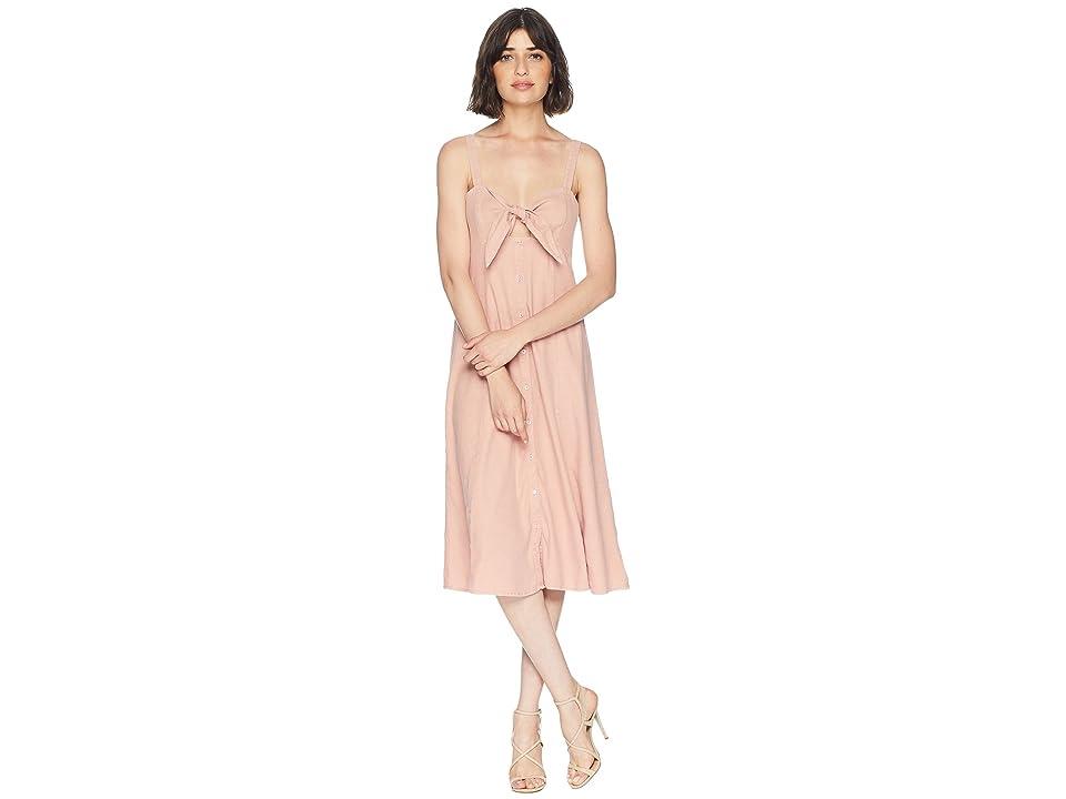 Splendid Dahlia Linen Slub Midi Dress (Adobe) Women