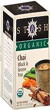 Stash Tea Organic Chai, Black and Green, 18 Count