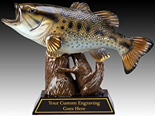 Fishing Award Trophy Resin BASS Figure in Color with Engraving