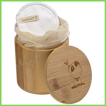 Abschminkpads Waschbar 18 Wiederverwendbare Wattepads aus Bambus /& Baumwolle mit W/äschebeutel f/ür alle Hauttypen,Pads Waschbar,Wattepads Abschminkspads Waschbar Zero Waste,Geschenke f/ür Frauen