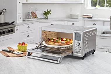 """Cuisinart TOB-260N1 Chef's Convection Toaster Oven, Stainless Steel, 20.87""""(L) x 16.93""""(W) x 11.42""""(H)"""
