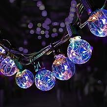 8.7 Meter Buiten Lichtslingers,OxyLED RGB Kleurrijke Koperen Lichtslinger 25+3 LED Tuin Patio Buiten Lichtslingers,Fairy D...