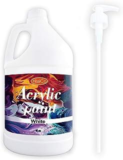 Acrylic Paint White Color (128 oz/1 Gallon), Titanium White With Rich Pigment Non Toxic Paint for Kids Students Artists Pa...