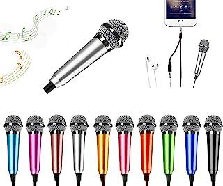 میکروفن مینی کارائوکه ، میکروفن مینی میکروفون ضبط صدا مینی میکروفون قابل حمل کارائوکه برای آواز ، ضبط ، ضبط صدا (نقره ای)