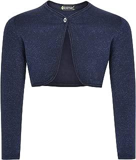 Girls Lurex Glitter Effect Cardigan Top Long Sleeve