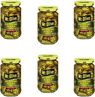 Mt Olive Jalapeno Slices 12oz Jar (Pack of 6)