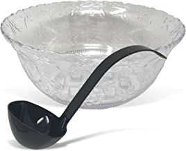 CSBD Punch Bowl Set with Ladle, 2 Gallon, Modern and Decorative for Party, Holiday, or Christmas Events, Large, Elegant an...