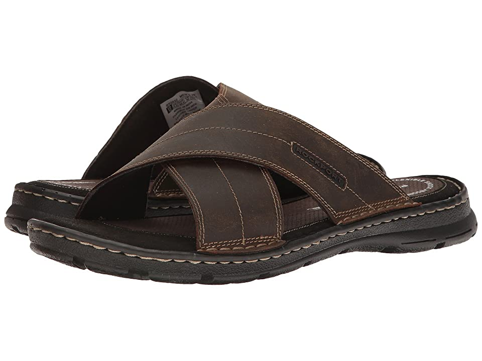 f903acc73ba Rockport Darwyn Cross Band (Brown II Leather) Men s Sandals