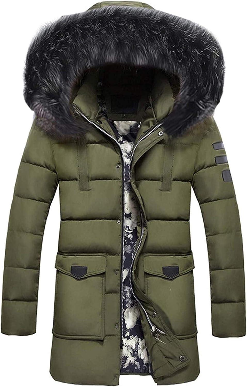 Men's Coat Zipper Thickened Hat Removable Cotton Outwear Waterproof Ski Jacket Hood Windproof Rain Snow Windbreaker