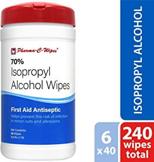 Pharma-C-Wipes 70% Isopropyl Alcohol Wipes (Case of 6 Canisters)